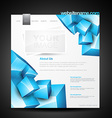 webpage template vector image