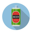 beer bottle template in modern flat style icon on vector image