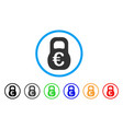 euro weight rounded icon vector image
