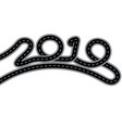 2019 new year the road is stylized signature vector image