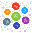 7 cog icons vector image vector image