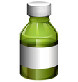 A medical bottle with cover vector image vector image