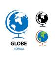 a school globe monochrome vector image vector image