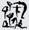 aerobic sport silhouette vector image vector image