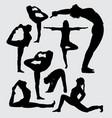 aerobic sport silhouette vector image vector image