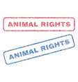 animal rights textile stamps vector image vector image