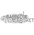 barbecue brisket text word cloud concept vector image vector image