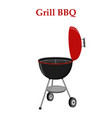 barbecue set - grill station opened cap vector image vector image