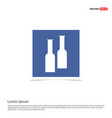 bottles of drink icon - blue photo frame vector image vector image