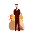 business characters poses and actions vector image