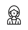 business woman icon avatar symbol female vector image vector image