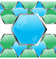 buttons blue and green colour vector image vector image
