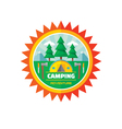 Camping adventure - badge vector image