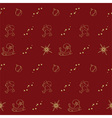 Christmas seamless pattern with holiday sym vector image