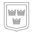 Coat of arms of Sweden icon outline style