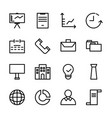 collection of business icon set vector image