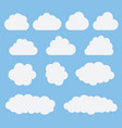 collection of white cloud icons signsweather vector image