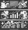 Concept Exchange Rates Flat Design Style vector image