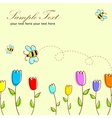 Cute floral postcard vector image