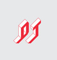 dt - 2-letter code d and t - monogram or logotype vector image vector image
