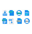 file format extensions icons collection vector image vector image