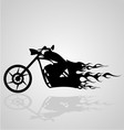 Flaming Motorcycle vector image