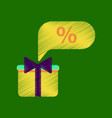 flat shading style icon gift box discount vector image vector image