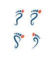 foot palm icon template vector image