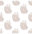 fox sketch seamless pattern funny cartoon vector image vector image