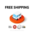 Free shipping icon in different style vector image vector image