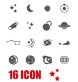 grey space icon set vector image