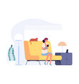 happy young mother breastfeeding woman holding vector image