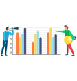 information analysis business tools in teamwork vector image