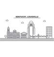 kentucky louisville architecture line skyline vector image vector image