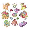 kids toys cartoon games for children in vector image vector image