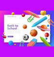 landing page web template back to school vector image vector image