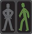 Led semafor zeleno ukljuceno resize vector image vector image