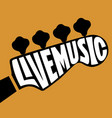 live music lettering vector image