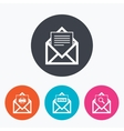 Mail envelope icons Message document symbols vector image vector image