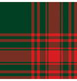 Menzies tartan green red kilt fabric texture vector image vector image