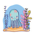 octopus sea cartoons vector image