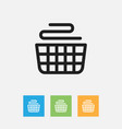 of cleaning symbol on basket vector image
