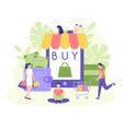 online shop buy sale order app vector image