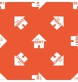 Orange house for rent pattern vector image vector image
