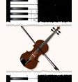 piano and fiddle poster vector image