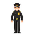 policeman flat design character isolated vector image