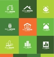 Real estate logo flat set icon design vector image vector image