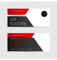 red and black gift voucher template vector image