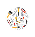 repair and construction tools flat icons round vector image vector image