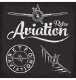 retro grunge aviation label vector image
